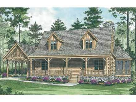 Log Cabin in the Woods Mountain Log Cabin House Plans