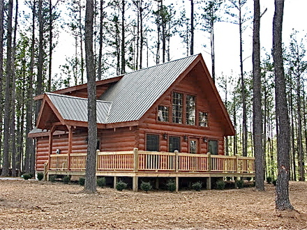 Log cabin style modular homes modular log cabins interior for Ranch log home floor plans