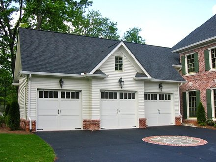 Semi- Detached Home Home Plans with Detached Garage