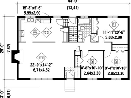 1100 sq ft lake house 1100 sq ft house plans 1100 square for How much is 1100 square feet