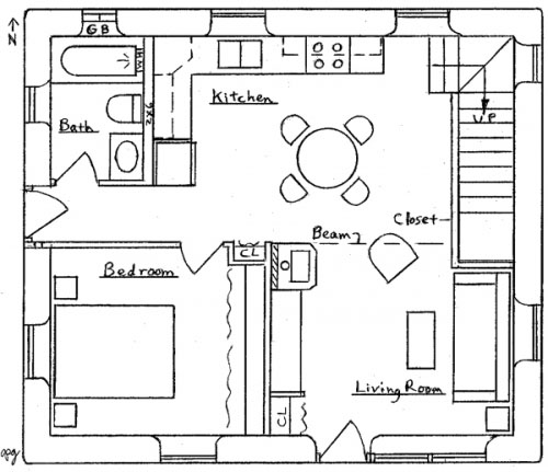 Bungalow floor plans and designs 1920s bungalow floor for Layout design of bungalows