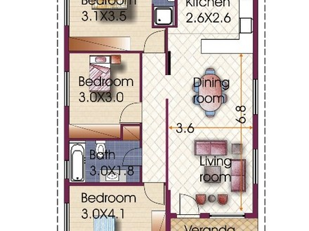 Modern Bungalow House 3 Bedroom Bungalow House Plan
