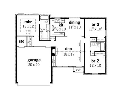 Simple Small House Floor Plans 3 Bedroom Simple Small House Design