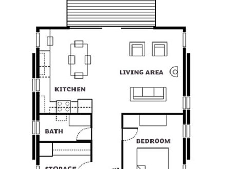 Rustic hunting cabin plans small small hunting cabin plans for Hunting cabin floor plans