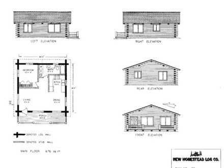 Mountain cabin plans cabin plans under 600 square feet for House plans less than 1000 sf