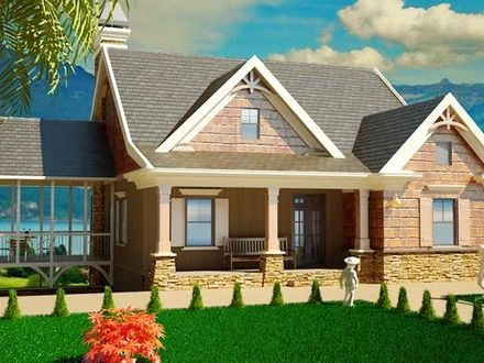 Small tudor style cottages small cottage style house plans for Southern cottage style