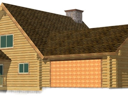 Rustic log cabin kits prefab hunting cabins log cabin for Attached garage kits