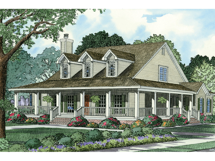 French Country House Plans Country Style House Plans with Wrap around Porches