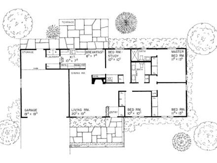 Small house floor plan small cottage house plans simple for Small house plans with character