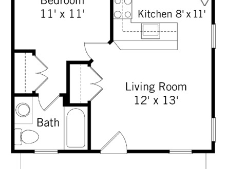 Small 1 Bedroom House Plans Inside Small House Designs