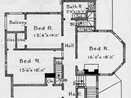 Small victorian house floor plans small victorian cottage for Queen anne cottage house plans