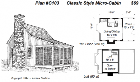 Tiny House On Wheels Plans Free Micro Cabin Plans