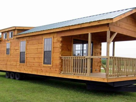 Tiny Log Cabin Home On Wheels Inside a Small Log Cabins