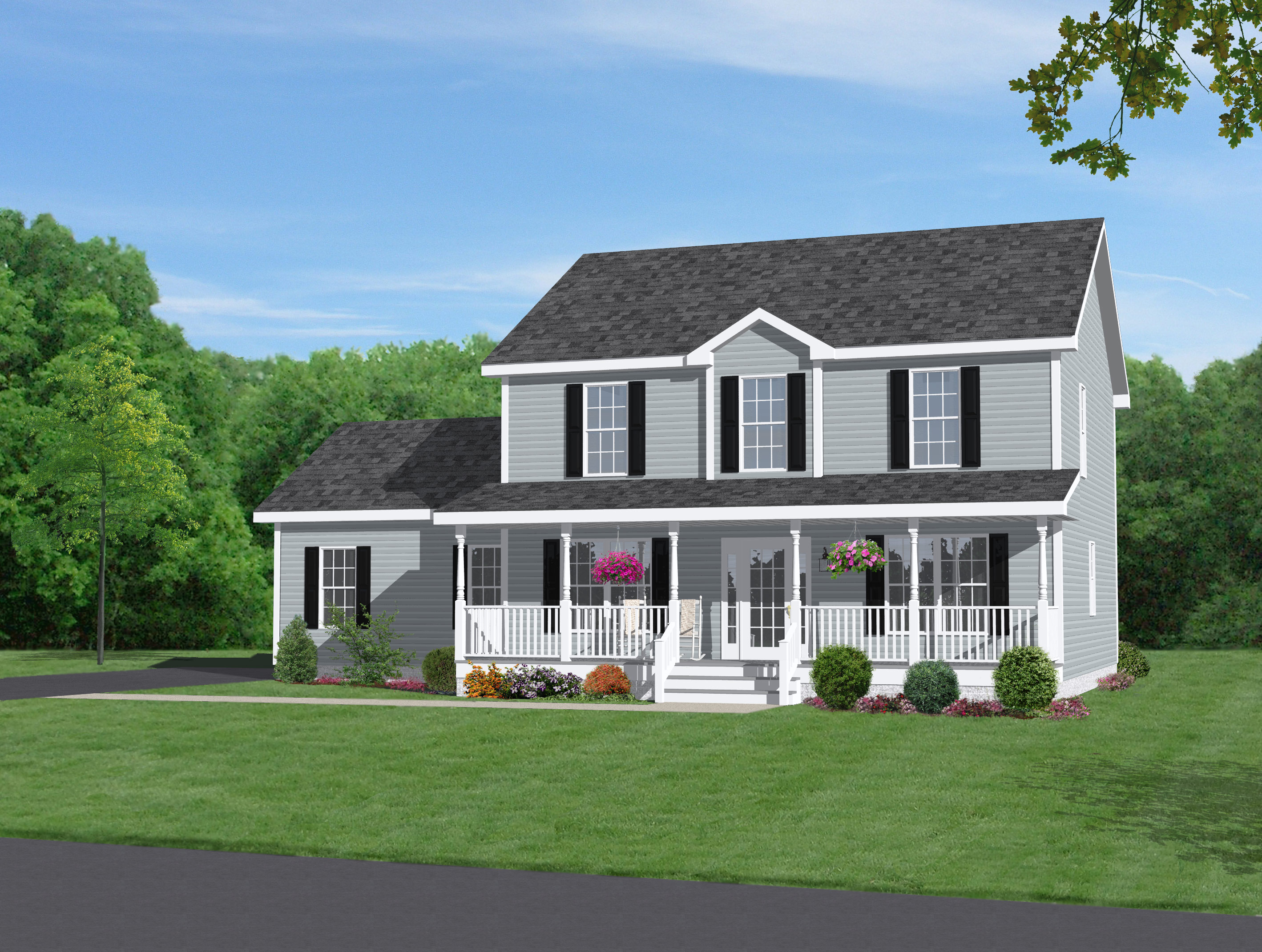 2 story house plans with wrap around porch 2 story house for Two story house with wrap around porch