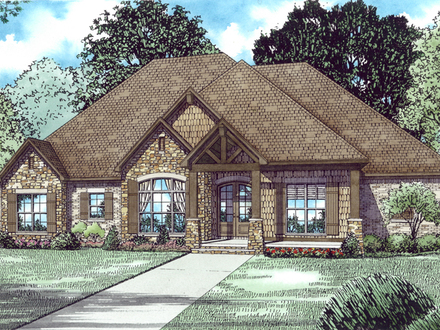 Craftsman style house plans with 3 car garage vintage for Craftsman house plans 3 car garage