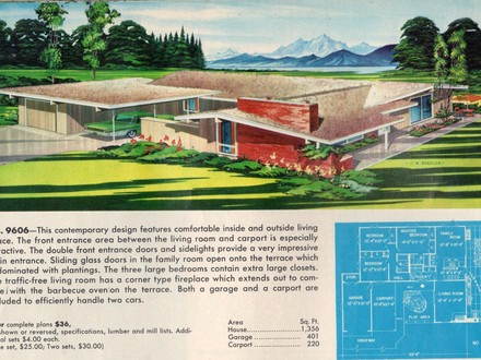 Atomic Ranch House Plans Mid Century Modern Ranch House ...