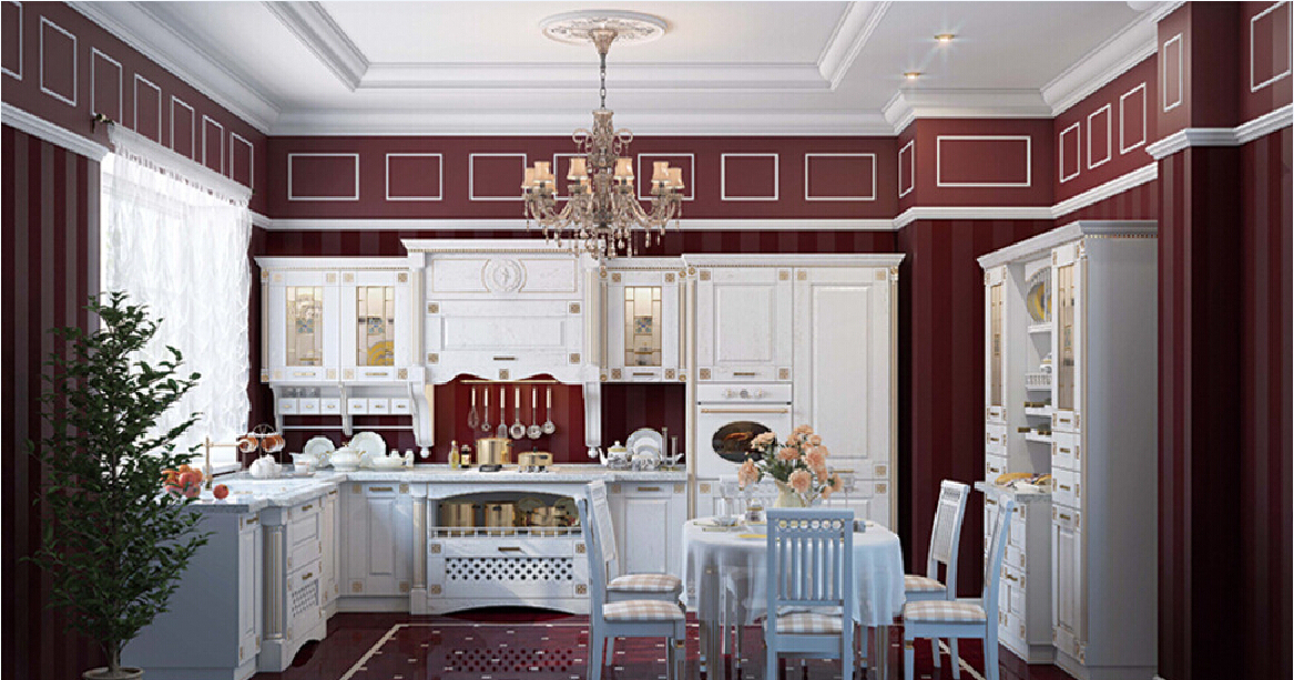 Red and white kitchen decoration red and white kitchen for Arnal decoration