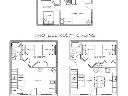 2 Bedroom Plans Small Cottage Small 2 Bedroom Cabin Floor Plans