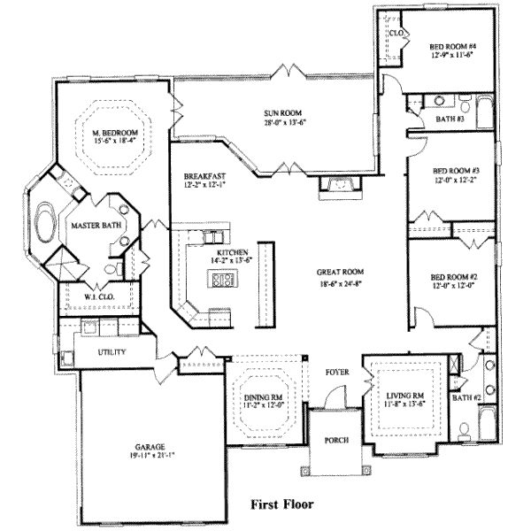 4 Bedroom House: 4-Bedroom Ranch House Plans 4 Bedroom House Plans, Modern