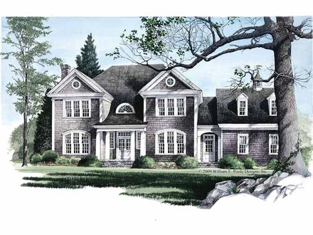 New England Colonial Style House Plans Georgian Colonial Style