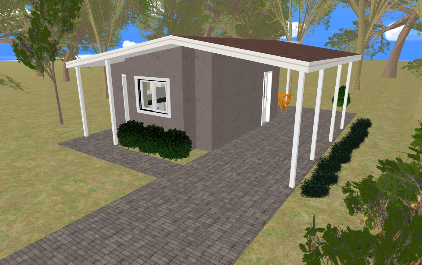 Small house plans with carports modern small house plans for Carport in front of house