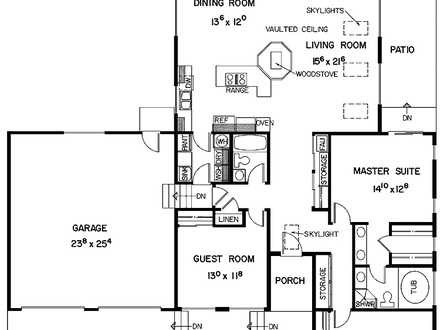 Two bedroom house plans with garage 3d home plans two for Plan 3d garage