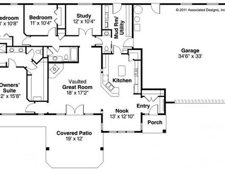 4-Bedroom Modular Home Floor Plans 4 Bedroom Ranch Style House Plans