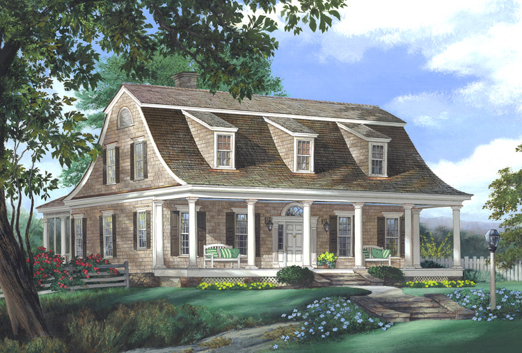 Dutch Colonial Style House Plans Southern Colonial Style House