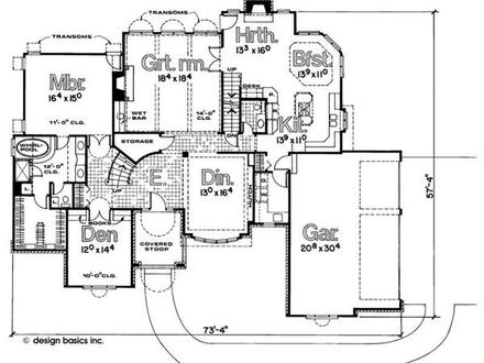 French Normandy House Plans French Normandy House Floor Plan