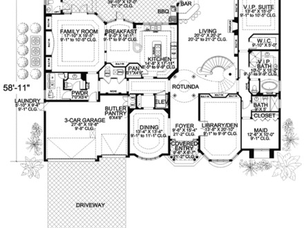 Mediterranean House Plans Luxury House Plans One Story Homes