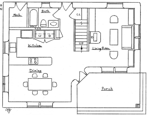Small Two Bedroom House Floor Plans Small Two Bedroom Cabin