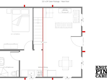 Cabins floor plans for 20x24 cabin layout
