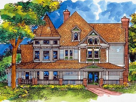 Victorian Ranch House Plans Country Victorian House Plan 57524