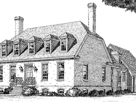 Tidewater low country house plans second empire house for Virginia farmhouse plans