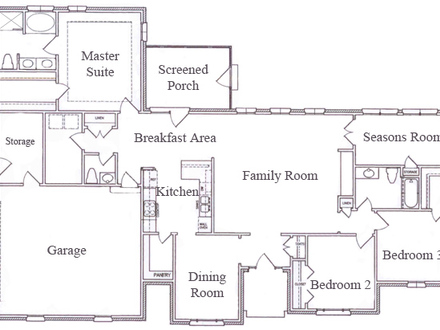 Country Style Homes Ranch Style Home Floor Plan