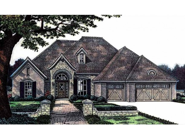One Story House Designs One Story French Country Homes