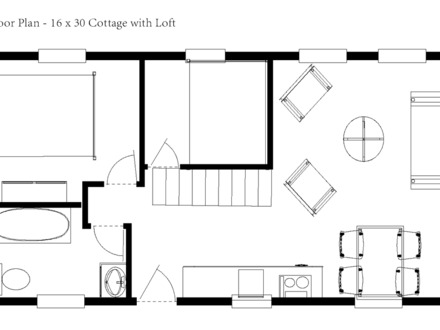 16 X 16 Cabin Floor Plans on 30 x 40 cottage house plans