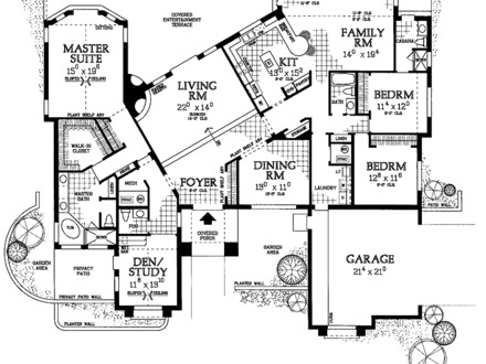 4 bedroom house plans 4 bedroom open house plans unique for Unique house plans with open floor plans