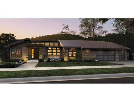 Beautiful Cowgirl Hot Modern Single Story Contemporary House Plan