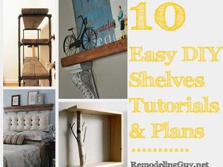 DIY Desk Plans Easy DIY Shelves Plans