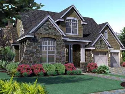 Simple Two-Story House Two Story Cottage Style House Plans