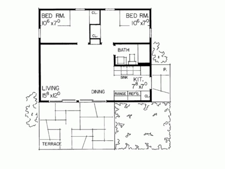 2 Bedroom House Plans additionally Ideas For The House moreover Escondido Village Lowrise Apartments in addition 371195194261391598 additionally Building Little Storybook Homes. on one bedroom cottage plans