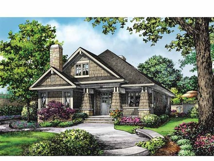 Drive under garage house plans basement under garage one for Craftsman house plans one story with basement