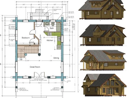 Cabin Floor Plans and Designs 1000 Sq FT Cabin Plans