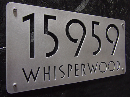 Modern Address Plaques House Numbers House Number Address Plaques