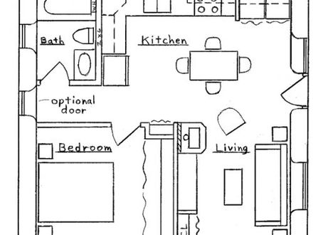 Cottage floor plans with loft guest cottage plans guest for 200 square foot cabin plans