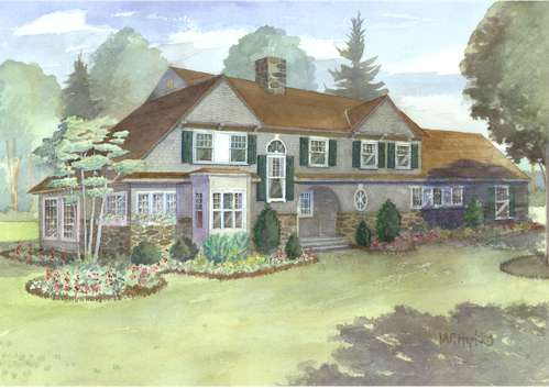 Cedar shingle cottage maine shingle cottage house plans for House plans maine