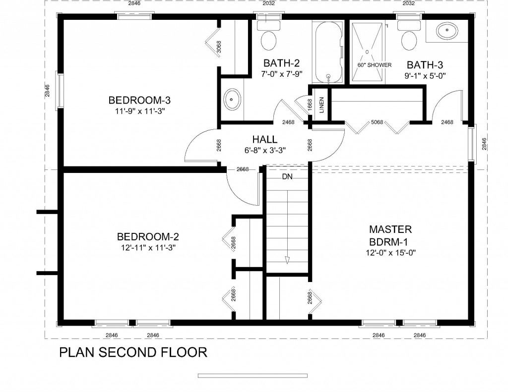 Colonial home floor plans traditional colonial house floor for Colonial ranch house plans