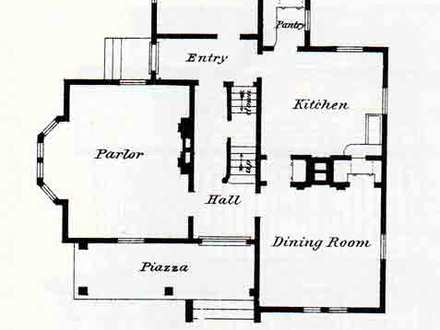 Victorian house with turret vintage victorian house floor for Queen anne house plans with turrets