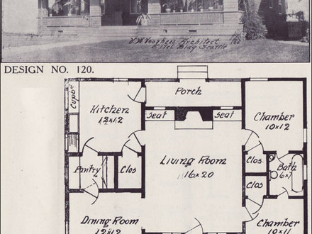 4 Square Houses in 1908 1908 Bungalow House Plans